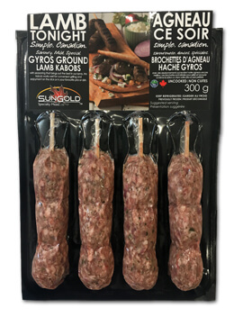 SunGold Lamb Gyros in Packaging
