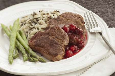 Cranberry-Orange Lamb Chops