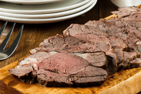 Dried Mushroom and Peppercorn Crusted Sirloin Roast