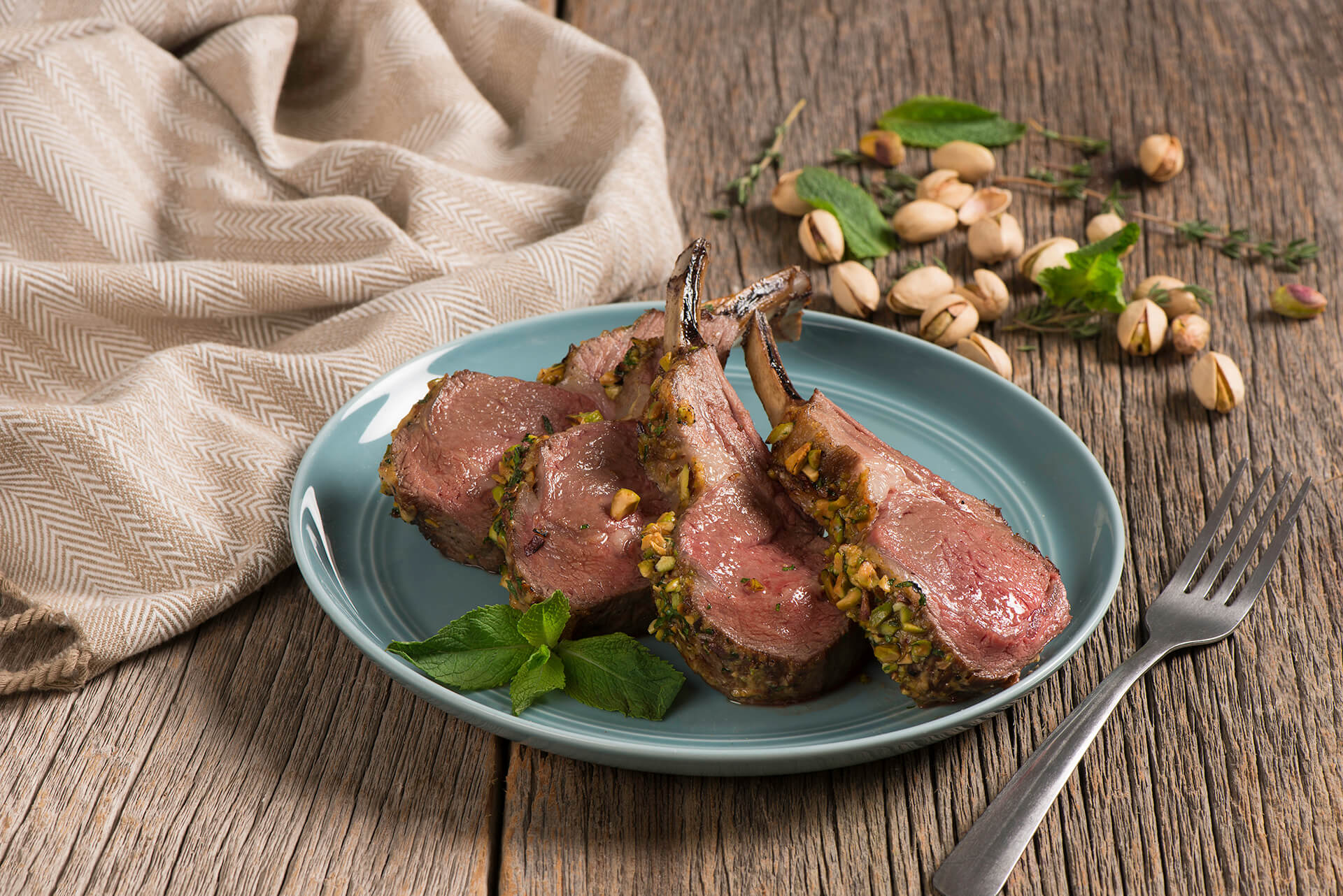 Pistachio Lime Crusted Rack of Lamb