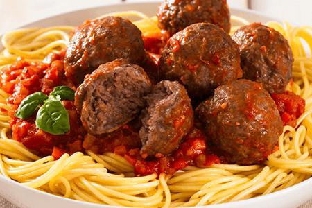 Spaghetti with Lamb Meatballs