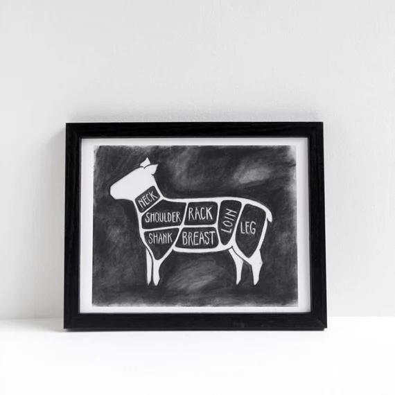 SunGold | Chalkboard illustration of lamb cuts