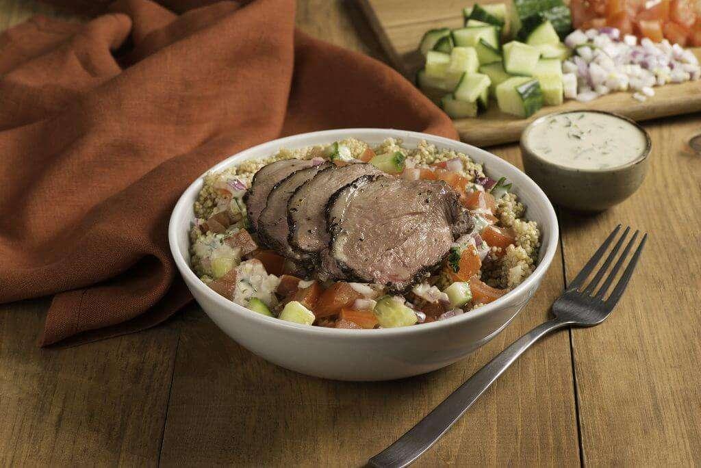Lamb & Quinoa Power Bowl with Tahini Dressing