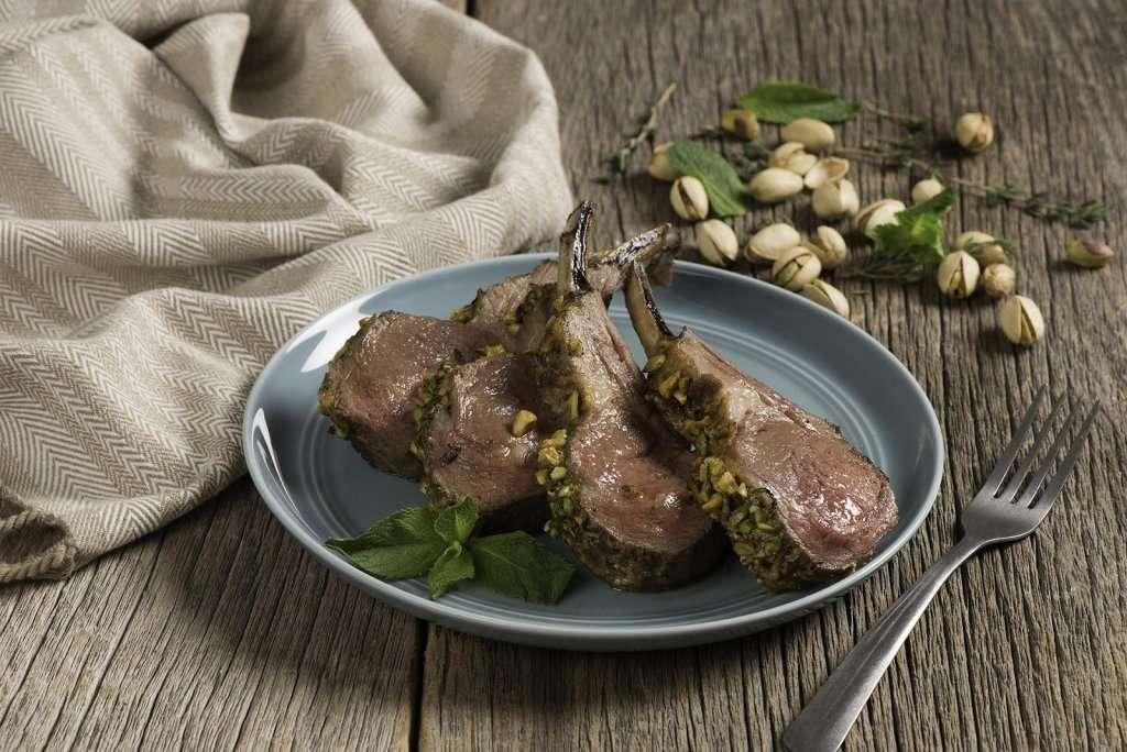 plated lamb chops